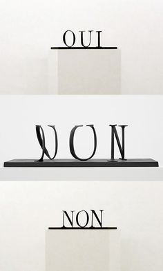 """""""oui/non"""" by markus raetz"""