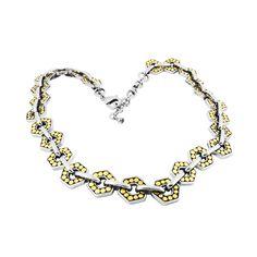 MODELO: B-MXCL1451 PZA: Collar DESCRIPCION: Collar con baño de rodio y oro. #joyería #collar #fashion #followus #necklace. Buy it on https://www.kichink.com/buy/507571/zienabisuteria/b-mxcl1451?byp455=true#.VP9oZ75Z9ao