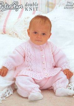Baby Knitting PATTERN  Sweater/Jacket and Trousers 16 por carolrosa