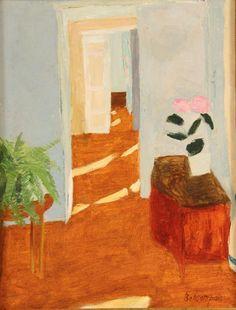 Interior Hallway Scene Pierre France Oil on canvas Art And Illustration, Illustrations, Painting Inspiration, Art Inspo, Kunst Inspo, Modern Art, Contemporary Artists, Painting & Drawing, Oil On Canvas