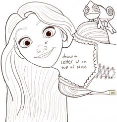 Today we are going to show you how to draw Rapunzel from Disney's Tangled movie...as well as her pet Chameleon, Pascal. Rapunzel is a princess with magical long hair that can reach the bottom of the tower that she is locked away in. She is an amazing character that I was very excited to draw today. I will guide you thru the process of drawing Rapunzel and Pascal with easy to follow steps.