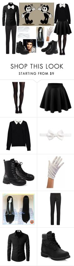 """""""Bendy and the ink machine"""" by fantasy2fiction ❤ liked on Polyvore featuring SPANX, Essentiel, Armani Collezioni, Prada, Timberland and Brooks Brothers"""