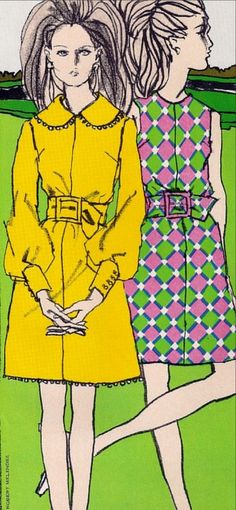 1960s Fashions, illustrator: Robert Melendez