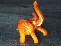 Glass elephant orange figurine animals glass elephant sculpture art glass toy murano elephants animals statue elephant animals figures gift