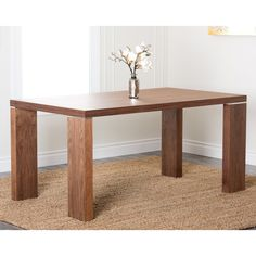 Have to have it. Abbyson Living Valerie Rectangle Dining Table - Walnut - $700.99 @hayneedle