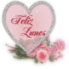 Imagen Gif de Feliz Lunes Con Corazones Y Flores