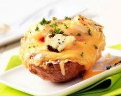 Pommes de terre farcies au jambon et gruyère au four (facile, rapide) - Une recette CuisineAZ