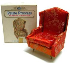Ideal Petite Princess Dollhouse Furniture Wing Chair