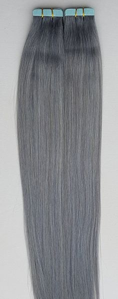 18 inches 100grs,40pcs, Human Tape In Pastel Hair Extensions Dark Silver (Steel Gray) -- This is an Amazon Affiliate link. Visit the image link more details.
