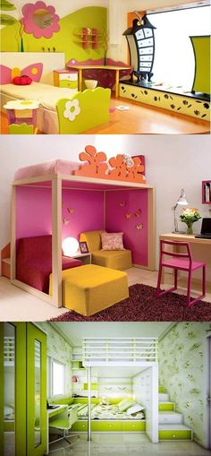 Decorating Ideas for Kids' Rooms - Do you want to make a smile on your kids' face? Here are some great kids' rooms decorating motifs that will surely make your kids cheerful. Amazing combination of brown and yellow in your kids' room will make your kids stay all the day at their rooms. You can get this color combination by apply... -  - decoration