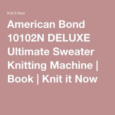 bond america the ultimate sweater machine deluxe