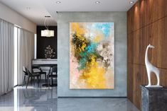 Large Painting on Canvas,Original Painting on Canvas,art paintings,abstract originals,palette knife canvas,textured painting FY0084