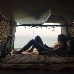 I wanna live a couple months in a hippie van, just totally laid back not caring about a thing, all I would pay is food and gas and I would just surf and drive and adventure around with a couple good people. Vw Camping, Glamping, Van Life, Adventure Awaits, Adventure Travel, Road Trip Van, Road Trips, The Places Youll Go, Places To Go