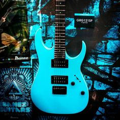 Ibanez in blue... Thus endeth the tribute to Racer X and the late 1980s