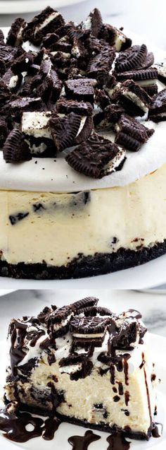 This Instant Pot Oreo Cheesecake from My Baking Addiction is going to be your new favorite way to make a cheesecake. It's and easy no fail way to get the perfect sized dessert for your family!