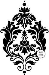 Judikins Rubber Stamp-Regal Damask