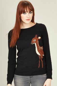 <3 Sugarhill Boutique Deer Jumper! <3