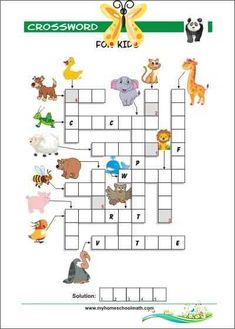 Prereading Skills Practice Worksheets Free printable crossword puzzles for kids with pictures.           #memorygames #freeprintables #matchinggames #freememorygames #printablesmemorygames #memorygames #picturememorygames #memorygamesbraintraining #rightbraineducationgames #rightbraineducationmemorygames #rightbraineducationworksheets #shichidaexercises #heguruexercises<br> Free Printable Crossword Puzzles, Free Printables, Right Brain, Brain Training, Memory Games, Puzzles For Kids, Matching Games, Worksheets, Memory Verse Games