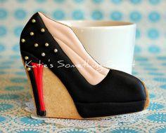 Shoe CookiesFashion CookiesBlackGift for by katiesomethingsweet, $36.00