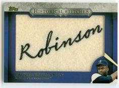 2012 Topps Jackie Robinson Historical Stitches Baseball card