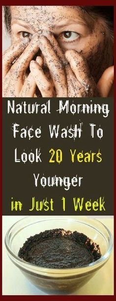 Natural Morning Face Wash To Look 20 Years Younger in Just 1 Week -Beauty DIY #beauty #DIY #health #skin #remedies #coffee