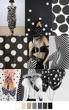 Polka Dot Pattern Passion Mood Board, see more at http://www.brabbu.com/en/inspiration-and-ideas/moodboard/polka-dot-pattern-passion-mood-board