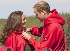Pin for Later: 21 Bold Kate Middleton Outfits That Probably Weren't Queen Approved Matching Her Man Kate Middleton and Prince William wore matching hoodies during their July 2011 tour of Canada.