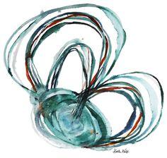 Semicircular Canals Watercolor Art Print ENT Art by LyonRoad