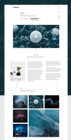 Studio Landing Page Concept Exploration on Behance
