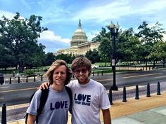 Kevin and Adam Pearce were sharing the #LoveYourBrain mission on Capital Hill.