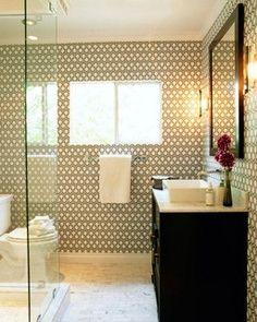 Papel de parede funciona bem em banheiros bem ventilados