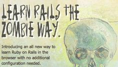 The Best Way to Learn Ruby on Rails Learn Ruby, Ruby On Rails, Coding, Zombies, Learning, School, Exercises, Technology, Videos