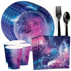 Check out Galaxy Party Standard Tableware Kit (Serves from Birthday In A Box Galaxy Party, Galaxy Cake, Galaxy Theme, Galaxy Wedding, Preteen Birthday, 10th Birthday, Birthday Party Themes, Girl Birthday, Birthday Ideas