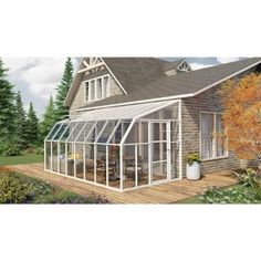 Rion Sun Room 8 ft. x 16 ft. Clear Greenhouse-702135 - The Home Depot