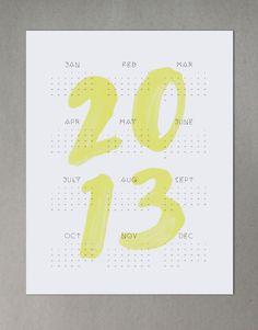 frills // 2013 wall calendar #2013 #calendar