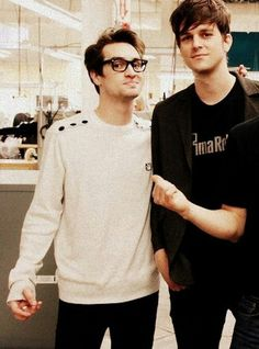 Brendon Urie. He looks so adorable in a sweater.