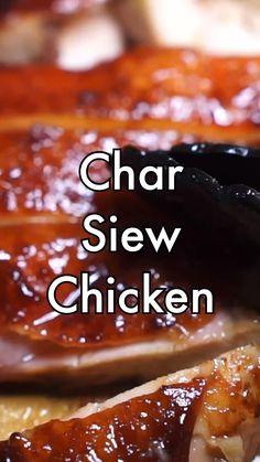 Easy Chinese Recipes, Asian Recipes, Char Siu Chicken, Bbq Chicken, Asian Cooking, Cooking Chinese Food, Easy Cooking, Baked Chicken Recipes, Food Dishes