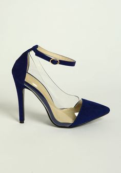 Clear Sided Ankle Strap Heels