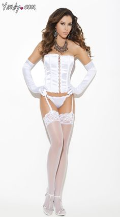 Satin Strapless Corset with Matching G-String