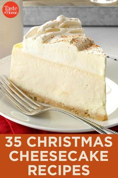 35 Christmas Cheesecake Recipes - 35 Christmas Cheesecake Recipes Best Picture For summer recipes For Your Taste You are looking fo - Holiday Baking, Christmas Desserts, Christmas Baking, Christmas Parties, Christmas Treats, Christmas Cookies, Christmas Holidays, Cheesecake Desserts, Just Desserts