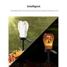 Einfache Engel Solarleuchten für die Gartendekoration Wasserdichte LED-Solarlampen Landschaftsrasenlicht Solar Yard Lights, Lawn Lights, Solar Powered Lights, Color Changing Led, Diy Kits, Outdoor Lighting, Bulb, Lawn, Angel