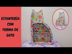 El Rincón de Atir: Estantería de cartón con forma de gato. DIY