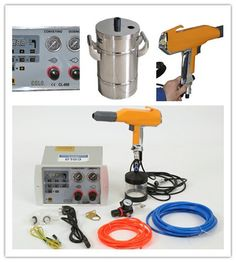 Portable electrostatic powder paint gun, Powder coating Set - COLO powder coating machine