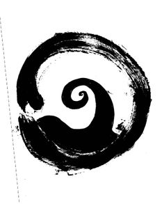 Enso symbol (absolute enlightenment, strenght, elegance, the universe, the void) + spiral ... my next tattoo???