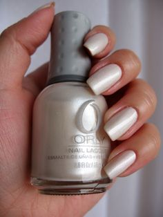 Orly Au Champagne - a subtle white shimmer (semi-matte finish). Click the image for more!