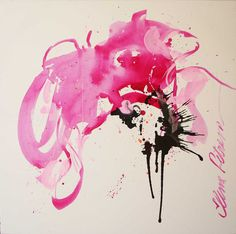 abstract pink painting contemporary xxl large 40x40