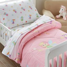 Features:  -Includes one super comfortable comforter.  -Comforter lined with super-soft cotton flannel.  -Embroidered details.  -Olive Kids collection.  Product Type: -Comforter/Duvet.  Gender: -Girl.