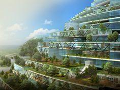 PHOTOS. Architecture : une idée d'île artificielle gigantesque au large d'Istanbul : le projet Havv Ada