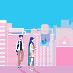 Korean Art, Korean Drama, Teen Web, Web Drama, Couple Illustration, Webtoon, Homework, Kdrama, Fanart