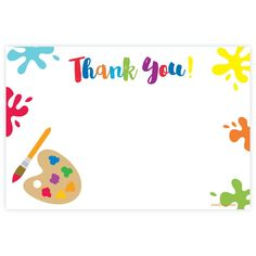 Art Painting Themed Thank You Note Cards - madison & hill